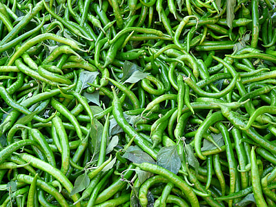 peperoni, diēzs, dārzeņi, tirgus, tirgus kabīne, Zaļā čilli, papriku Capsicum