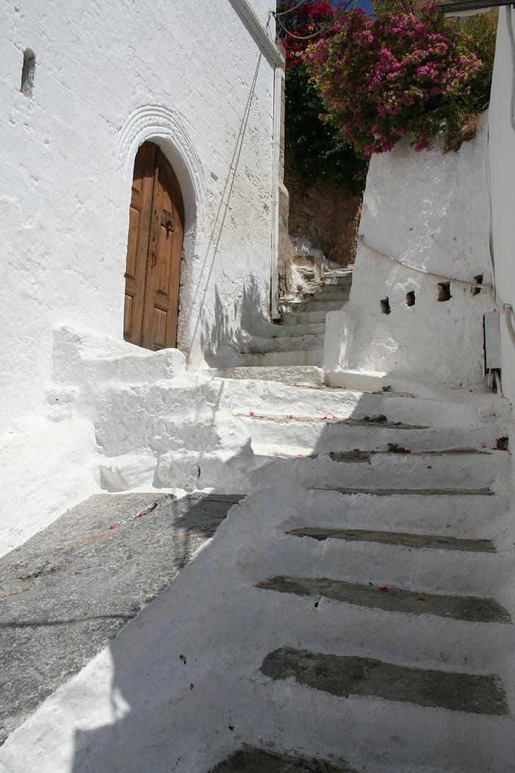 Řečtina, Bílý dům, schodiště, mimo, ulice, Architektura