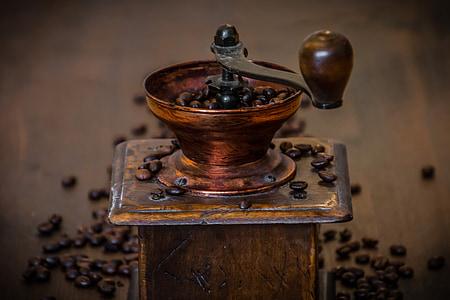 cafè, molinet, molinet de cafè antic, cafeteria, cafeïna, beguda, grans de cafè