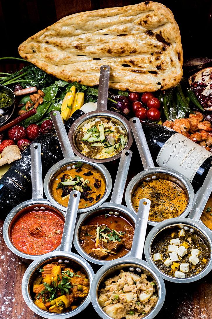 primavera, verdures, confort, l'Índia, indi, menjar hindú, pollastre