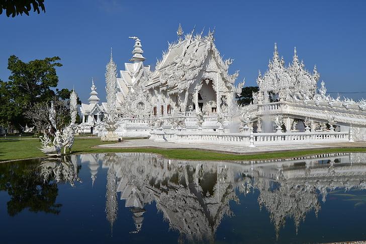 Wat Rong khon, weißen Tempel, Thailand, in Zentralasien, Chiand rai, Tempel, Thailändisch