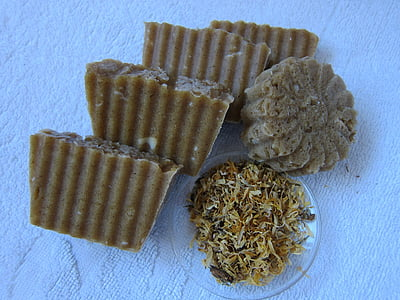 calendula soap, natural soap, cosmetics, toiletry, calendula, herbs, marigold