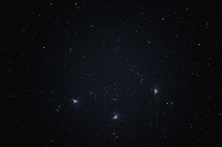 starry, stars, star system, night, universe, space, solar system