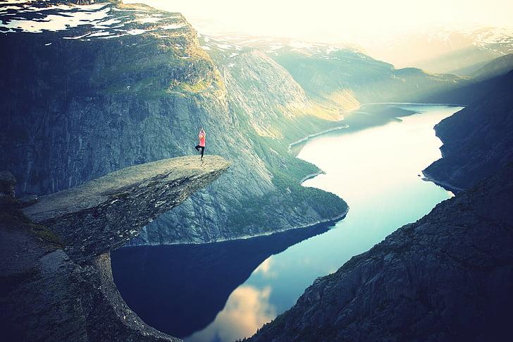 Roca, penya-segat, alta, retaule, muntanya, extrem, natura