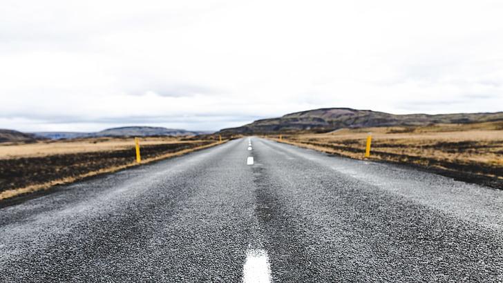 asfalt, Desert, väli, maanteel, maastik, Õues, perspektiivi