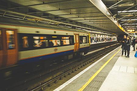 plataforma, ferrocarril, ferrocarril de, terminal, tren, estación de tren, túnel