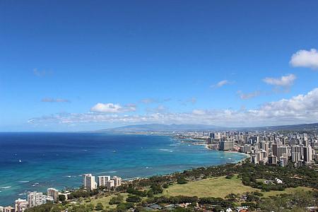 Beach, Hawaii, Ocean, Havaiji beach, wakiki
