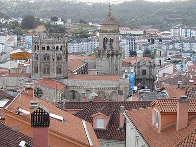székesegyház, Ourense, óváros, Galicia, kő, homlokzat, építészet