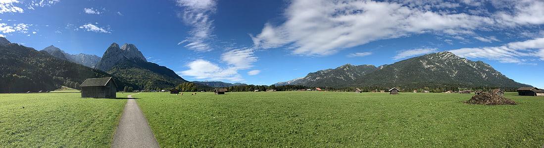 Природа, гори, Альпійська, озеро, Німеччина, краєвид, гірський ландшафт