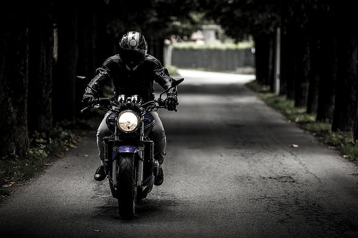 dviratininkas, motociklas, važinėti, transporto priemonės, motociklas, kelių, kelionės