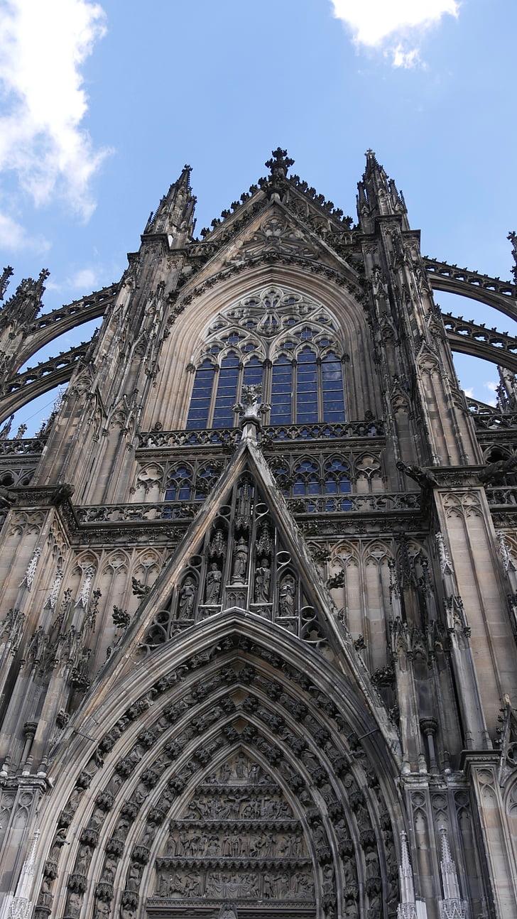 Cologne, Dom, Kastil Cologne, langit, Gereja, jendela, Landmark
