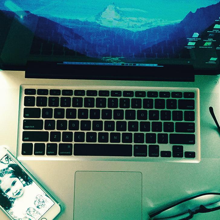 počítač, laptop, Technológia, Práca, Bezdrôtová technológia, Počítačová klávesnica, pripojenie