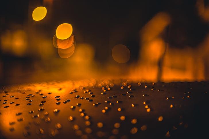blur, Bokeh, tume, õhtul, fookus, sära, valgustatud