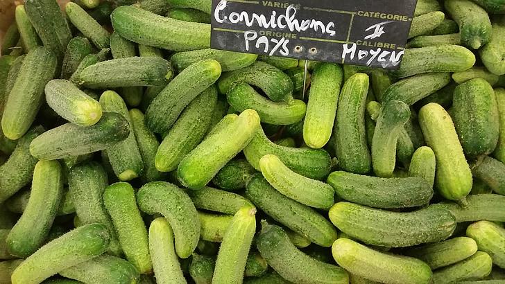 daržovių, žalia, marinuoti agurkai, Bio, salotos, šviežumo, rinkos