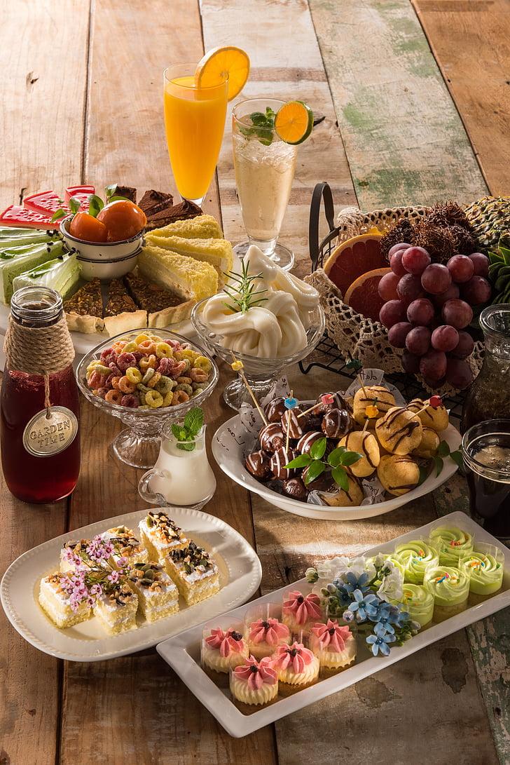 aliments, postres, deliciosa comida, menjador, cuina, Restaurant, deliciós
