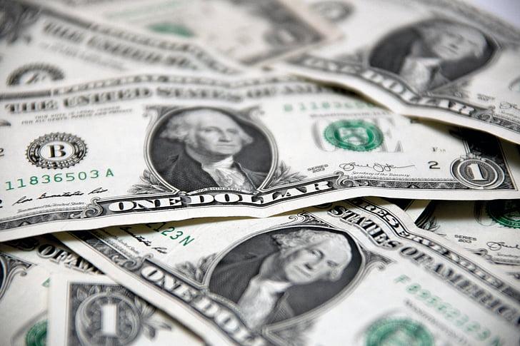 rahaa, dollaria, laskut, käteisellä, valuutta, Wealth, pankki