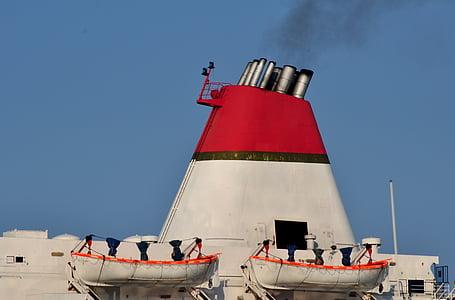 cerobong asap, kapal, Panci Kukusan, kapal pesiar, laut, asap, perjalanan