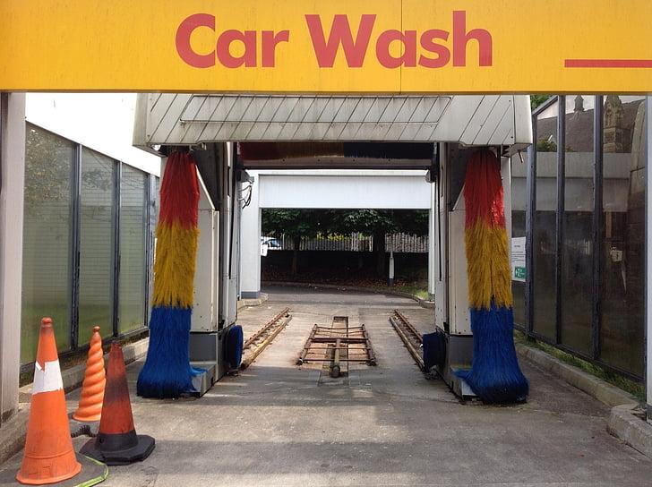 autopesu, harjad, Puhastage, pesta, garaaž