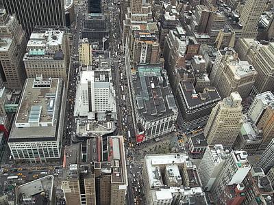Nova york, Manhattan, ciutat, urbà, paisatge urbà, Nova York, edifici