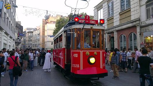 istanbul, taksim, tram