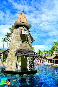 Pool-bar, Schwimmbad, Außenpool, Resort, Thailand, Khao lak, am Meer