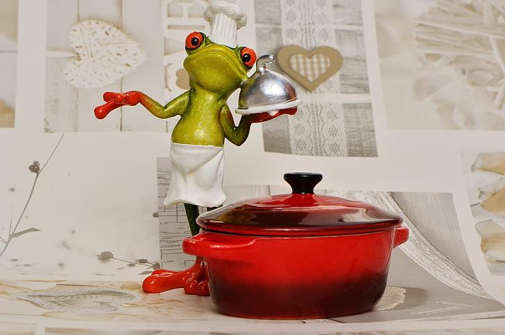 ếch, nấu ăn, ăn, nhà bếp, ăn ngon, thực phẩm, chuẩn bị