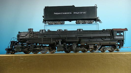 ferrocarril modèlic, tren, Locomotora de vapor, Locomotora, nord-americà, del Pacífic nord, del Pacífic