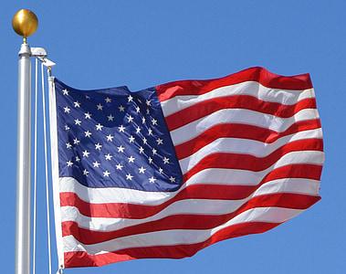 lá cờ, Hoa Kỳ, Hoa Kỳ, Mỹ, người Mỹ, biểu tượng, yêu nước