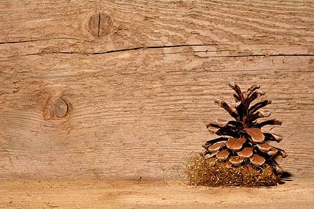 conuri de pin, lemn, fundal, Crăciun, lemn - material, decor, iarna