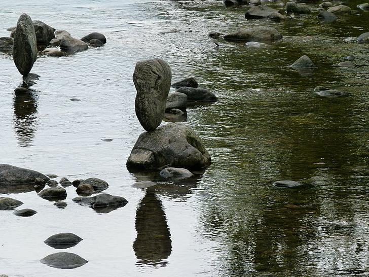 stones, water, silent, rest