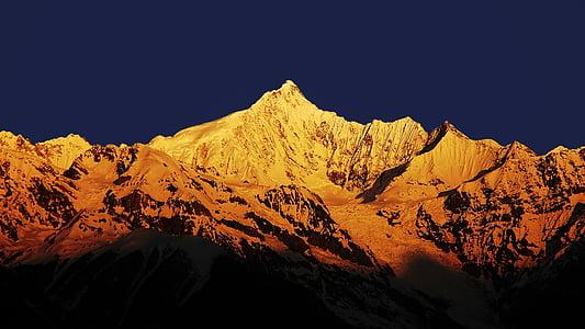 muntanya de neu, Meili muntanya de neu, sol jinshan, natura, muntanya, representacions, geografia física