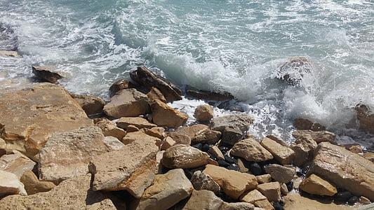 zee, natuur, golven, strand, eiland, vakantie, Golf
