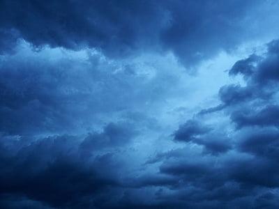 폭풍 구름, 뇌우, 어두운 구름, 구름 모양, 분위기, 분위기, 비