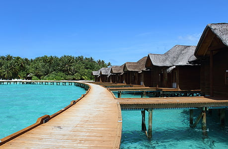 Maldives, vacances, Mar, l'aigua, illa, l'estiu, cel