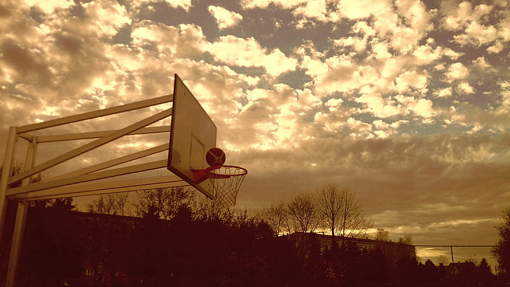 basketball, basket, ball, sport, leisure, outdoor, out