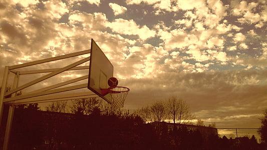 basquete, cesta, bola, desporto, lazer, ao ar livre, para fora