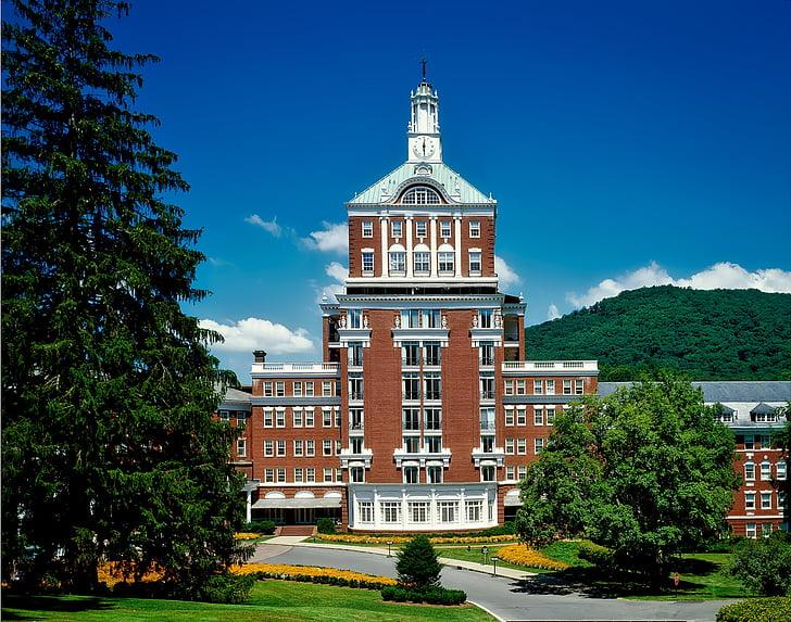 gård resort, varme kilder, Virginia, Hotel, Spa, landemerke, historiske