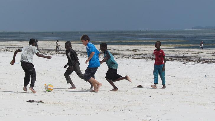africa, children, football