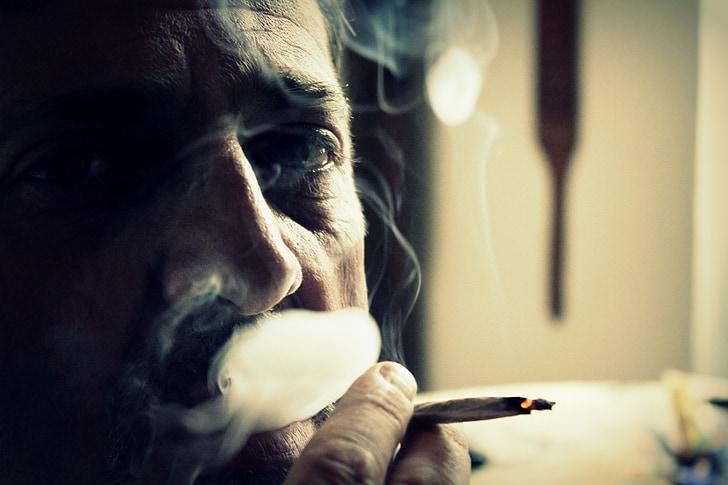 fum, cigarret, fumador, cigarrets, cendra, fumar, rostre humà