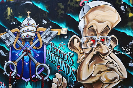graffiti, one, pope, funny, one man only, only men, adult