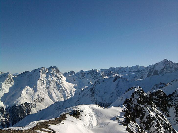 dãy núi, Alpine, cảnh quan, Áo, tuyết, wintry, Hội nghị thượng đỉnh