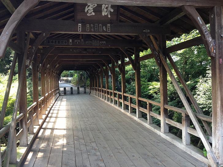 kyoto, bridge, japanese style, k, wooden