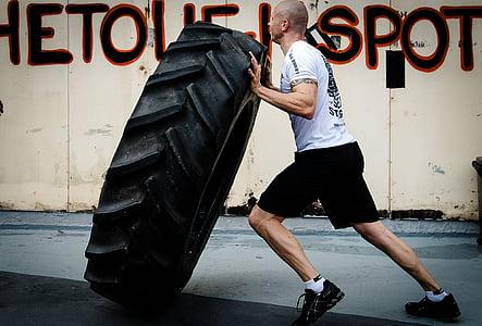 lahkota pnevmatik, hardcore usposabljanja, CrossFit, fitnes, telovadba, vaja, usposabljanje