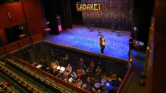 cabaret, theatre, theater, musical, music, orchestra, pit