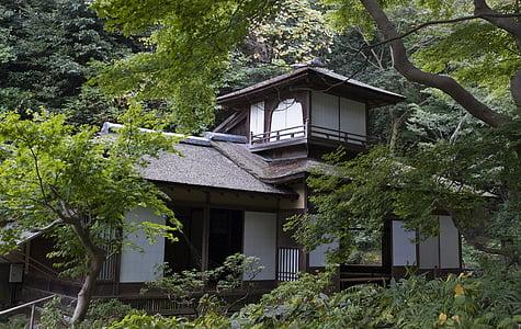 le chōshūkaku, maison japonaise, traditionnel, bois, jardin à yokohama, Japon, jardin japonais
