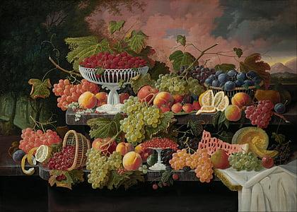 Severin roesen, umjetnost, umjetnički, umjetnost, slika, ulje na platnu, mrtva priroda