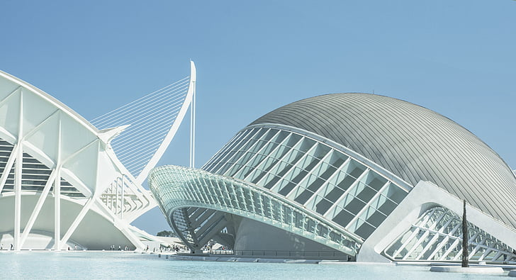 spain, valencia, city of arts and sciences, architecture, modern, building, artistic