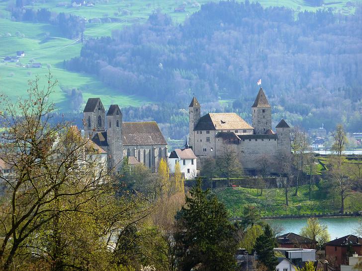 Rapperswil, odzyskiwanie, Zamek, Szwajcaria, Architektura, Jezioro Zuryskie, atrakcje turystyczne