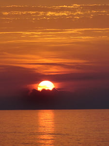 พระอาทิตย์ตก, ทะเล, ทะเลบอลติก