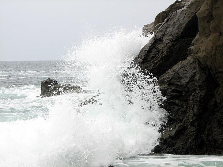 hullám, összeomlik a hullám, óceán, hullám törés, tenger, természet, víz